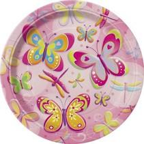 """Butterflies & Dragonflies 7"""" Plate 8 Ct"""