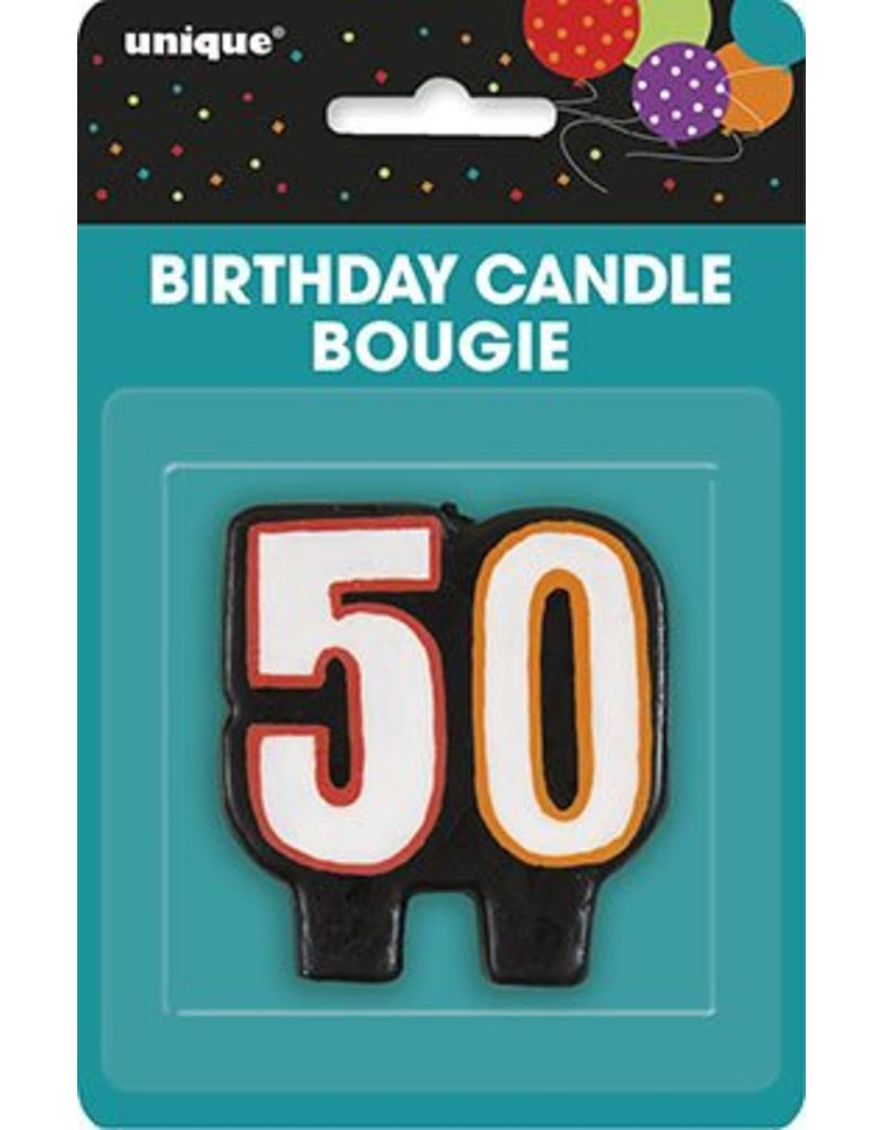 50TH Birthday Candle