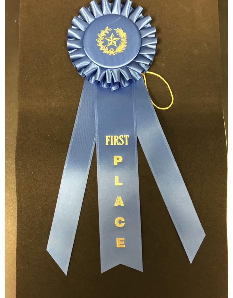 1st Place Long Rosette Ribbon