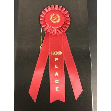 2nd Place Long Rosette Ribbon