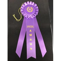 Special Award Long Rosette Ribbon