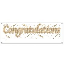"""Congratulations Banner 5' x 21"""""""