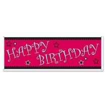 Happy Birthday Pink Banner