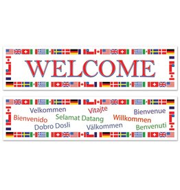 International Welcome Banners 2 pieces
