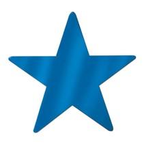 "Blue Foil Star Cutout - 9"""