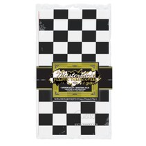 Black & White Checked Table Cover