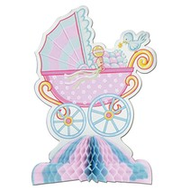 Carriage Baby Shower Center Piece