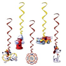 Fire Dept Party Whirls 5 piece package
