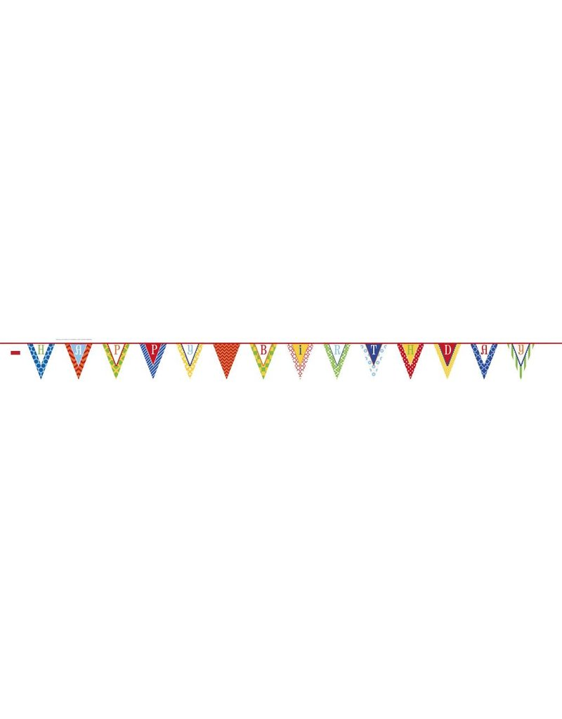happy birthday pennant banner tribout s party bingo carnival