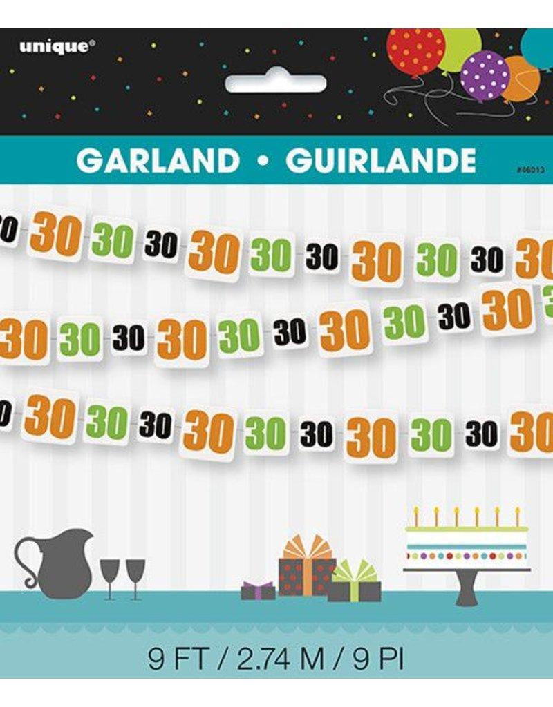 30th Birthday Cheer Garland