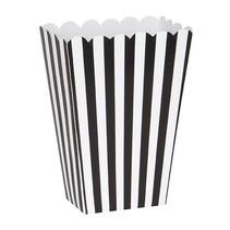 Popcorn Boxes Black & White Striped