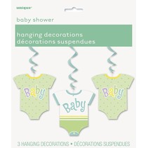 Baby Shower Onesie Hanging Decorations 3 count