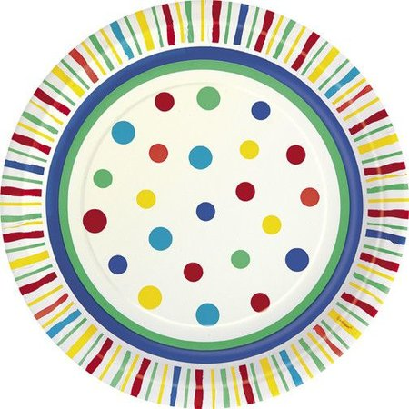 "7"" Plates Color Burst 8 count"