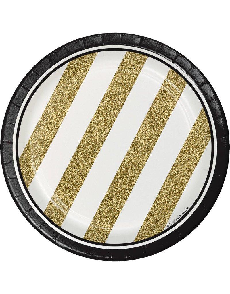 "7"" Plates Black & Gold"