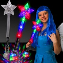 Star Wand with Prism Ball Lite Up