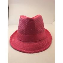 Sequin Fedora Pink Lite Up