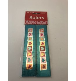 Valentine Rulers 12 piece package