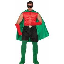 Super Hero Boxer Shorts Adult Size Black