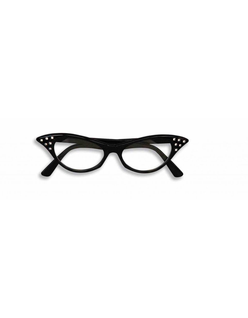 50's Glasses Black