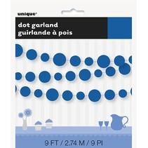 Royal Blue Dot Garland