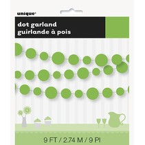 Lime Green Dot Garland