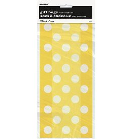 Cello Loot Bags Yellow Polka Dot