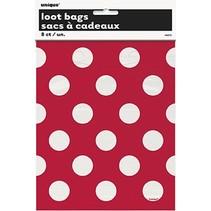 Polka Dot Loot Bags Red