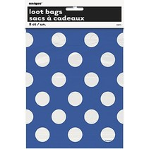 Polka Dot Loot Bags Blue