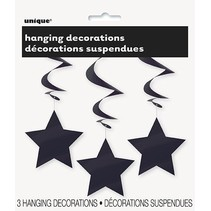 Hanging Star Decoration Black