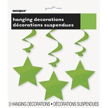 Hanging Star Decoration Lime Green
