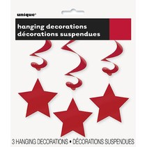Hanging Star Decoration Red