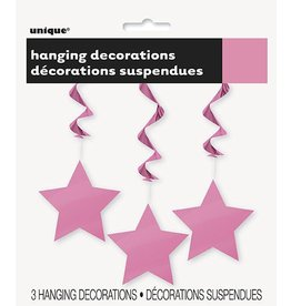 Hanging Star Decoration Pink