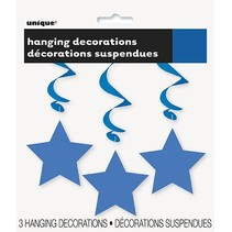 Hanging Star Decoration Blue