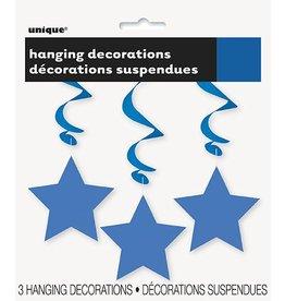 Hanging Star Decoration Blue
