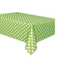 Polka Dot Table Cover Lime Green