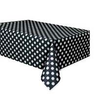 Polka Dot Table Cover Black