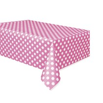 Polka Dot Table Cover Hot Pink