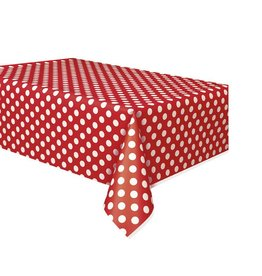 Polka Dot Table Cover Red