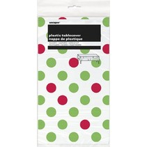 Polka Dot Table Cover Red & Green