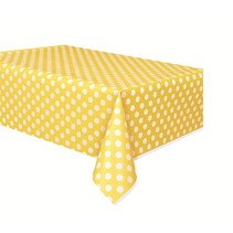 Polka Dot Table Cover Yellow