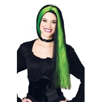 Color Streak Witch Wig