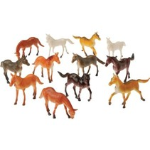 Mini Horse Figures 12 piece package