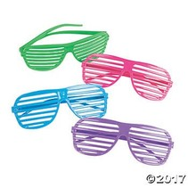 Slat Glasses Assorted Colors
