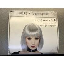 Glitzy Glamour Bob Wig Silver
