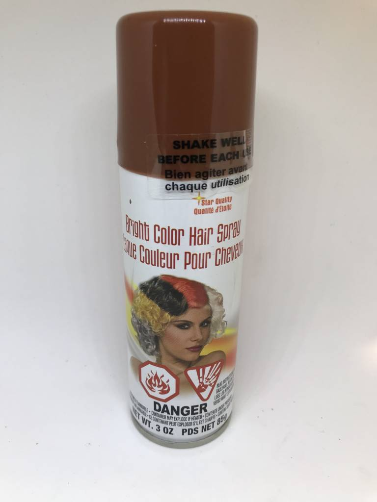 Brown Hair Spray Tribouts Party Bingo Carnival