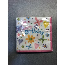 Cute Birthday Beverage Napkin