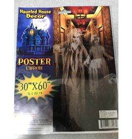 "Haunted Hallway Poster 30"" x 60"""
