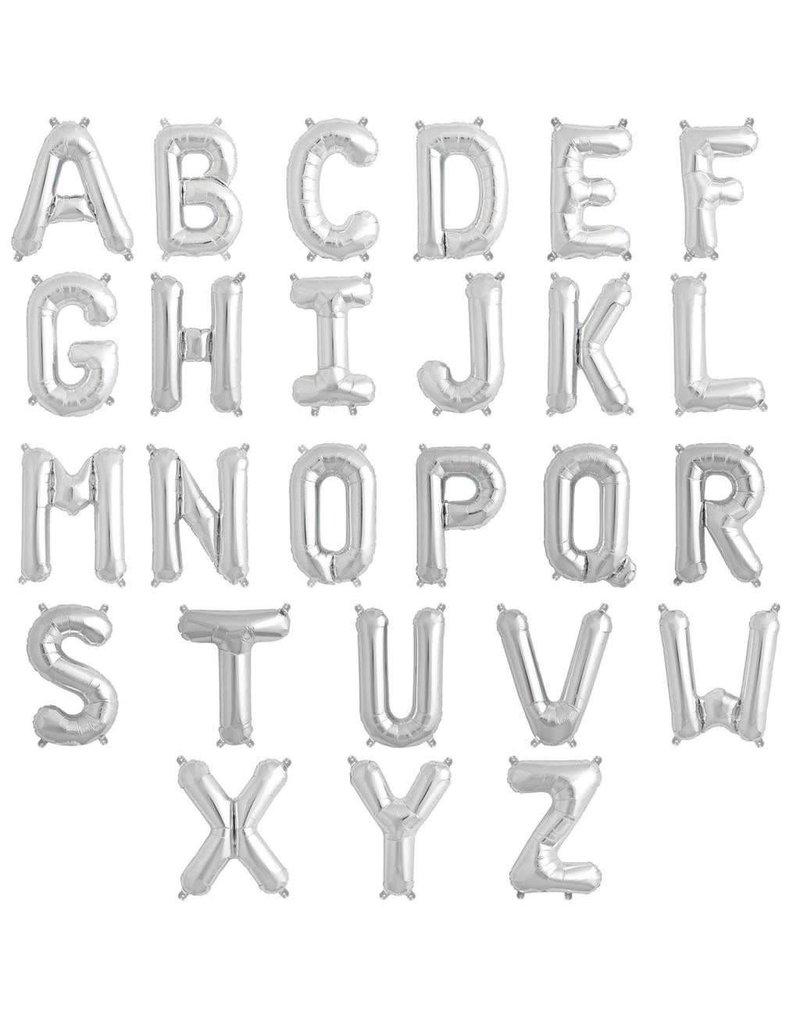 "16"" Silver Letter Mylars"