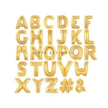 """16"""" Gold Letter Mylar"""