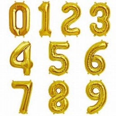 """16"""" Gold Number Mylar"""